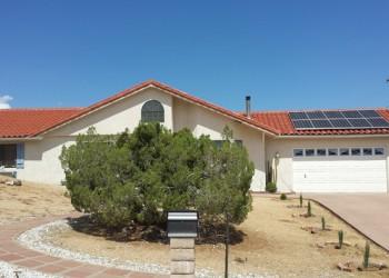 Yucca Valley Modern Solar Rooftop Installation